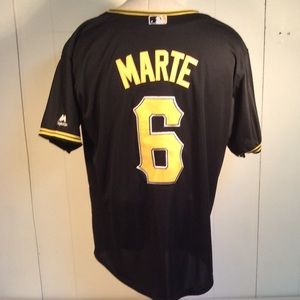 Majestic Pittsburgh Pirates Marte Jersey Mens sz M